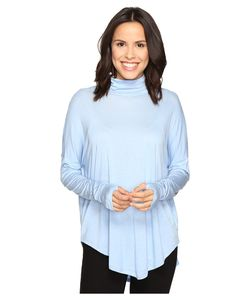 Michael Michael Kors | Long Sleeve Drop Shoulder Turtleneck Ocean Womens