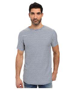 Publish | Norr Striped Terry Scallop Bottom Tee Slate
