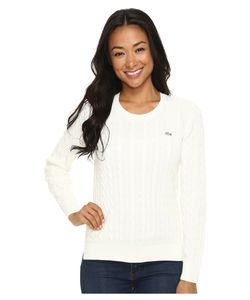 Lacoste | Long Sleeve Cotton Cable Knit Crew Neck Sweater Cake