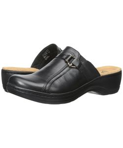 Clarks | Hayla Marina Leather Clog Shoes