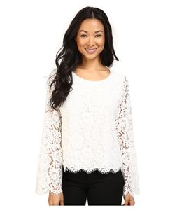 Vince Camuto | Bell Sleeve Scallop Edge Lace Blouse New Ivory