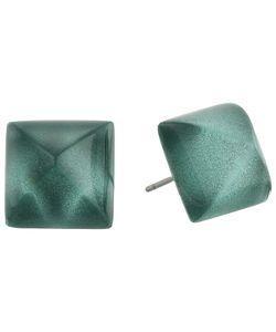 Alexis Bittar   Pyramid Post Earrings Teal Earring