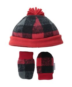Columbia | Frosty Fleece Hat Mitten Set Infant Mountain Buffalo Print
