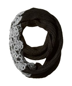 Betsey Johnson | Winter Bloom Infinity Scarf Charcoal Scarves