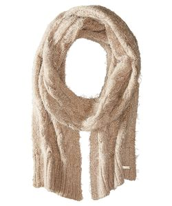 Calvin Klein | Fuzzy Cable Scarf Heathered Almond Scarves