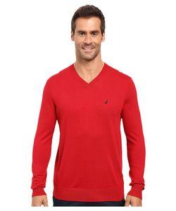Nautica | Solid V-Neck Sweater Sweater