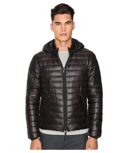 Duvetica | Troilo Quilted Down Hooded Jacket Allblack Coat