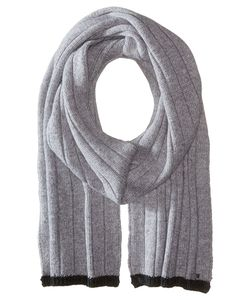 Michael Michael Kors | Tipped Wide Rib Muffler Heather/Charcoal Scarves