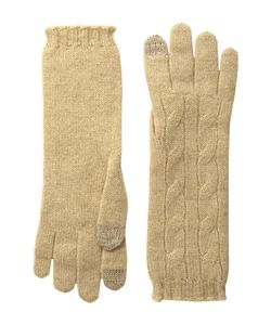 Polo Ralph Lauren   Cashmere Cable Touch Gloves Camel Melange Extreme