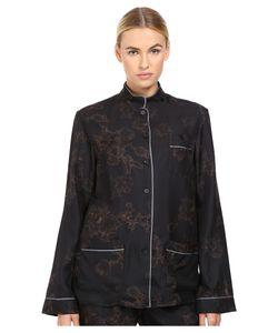 Vera Wang | Printed Pajama Button Up Plum Pajama