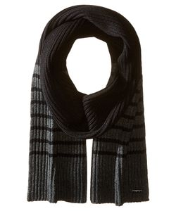 Michael Michael Kors | Striped Full Cardigan Muffler Charcoal Scarves