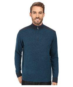 Robert Graham | Terzo 1/2 Zip Sweater Heather Teal Sweater