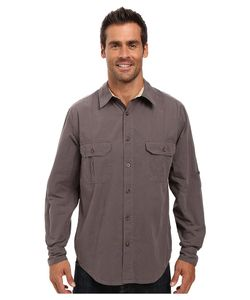 Woolrich | Midway Solid Shirt Slate Mens Short Sleeve Button Up