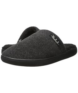 Woolrich | Chatham Camp Charcoal Fleece Slippers