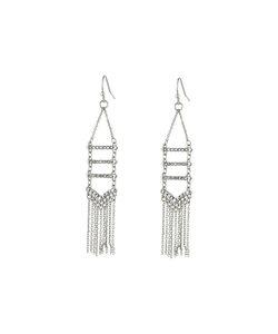 Rebecca Minkoff | Pave Fringe Chandelier Earrings Crystal/Labradorite Earring