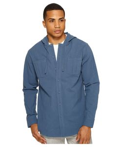 Publish | Aedan Hooded Button Up Slate Mens Clothing