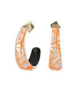 Alexis Bittar   Futurist Hoop Earrings Rutilated Neon Earring