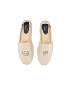 Soludos | Embroidered Smoking Slipper Sand Flat Shoes
