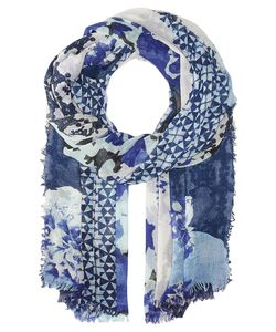 Vince Camuto | Torn Wallpaper Wrap Marine Scarves