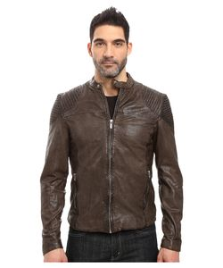 Goosecraft | Goat Biker Jacket Charcoal Mens Coat