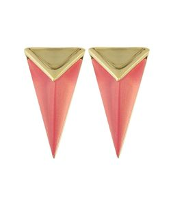 Alexis Bittar   Faceted Pyramid Post Earrings Sweet Melon Earring