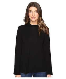 Michael Stars | Jersey Lycra Flared Sleeve Mock Neck Top