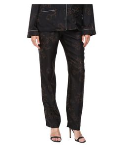 Vera Wang | Printed Skinny Pajama Pants Plum Pajama