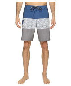 Quiksilver Waterman | Fairway Tri Block Boardshorts Castlerock Swimwear