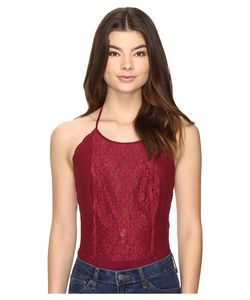Free People | Dance Around Bodysuit Wine Jumpsuit Rompers