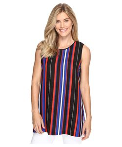 Vince Camuto | Sleeveless Core Multi Stripe Blouse With Slits Rich