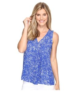 Vince Camuto | Sleeveless V-Neck Textural Reef Drape Front Blouse Core