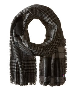 Tommy Hilfiger | Bi Color Reversible Houndstooth Tartan Charcoal Scarves