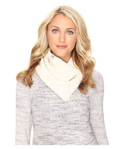 UGG | Crochet Snood With Lurex Sequins Ivory Multi Scarves