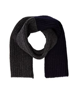Marni | Asymmetrical Color Detail Rib Scarf Dark Navy Scarves