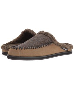 Woolrich | Austin Potter Slide Tweed Wool/Lead Suede Slippers