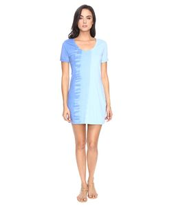 Michael Stars | Riverwash Short Sleeve Dress With Back Twist Water