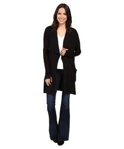Michael Stars | Elevated French Terry Draped Coat With Pockets