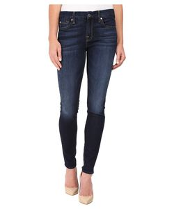 7 For All Mankind | The Skinny W Tonal Navy Squiggle