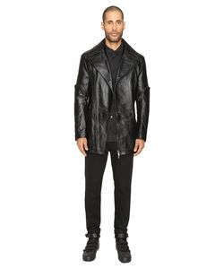 D.Gnak | Zip Sleeve Leather Jacket Coat