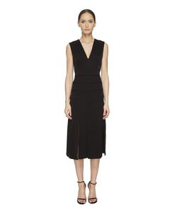 Prabal Gurung | Mech Stretch Crepe V-Neck Carwash Dress