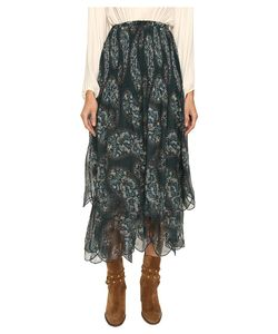 See by Chloé | See By Chloe Crepon Paisly Maxi Skirt Frosty