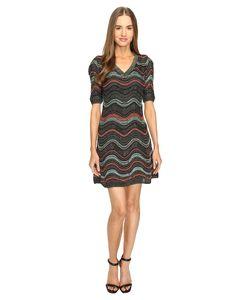 M Missoni | Lurex Ripple V-Neck Short Sleeve Dress