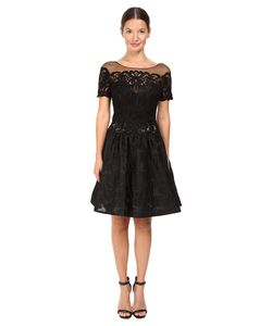 Marchesa Notte | Brocade Cocktail With Pockets Dress