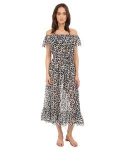 Marysia   Victoria Dress Cover-Up Hibiscus Print Swimwear