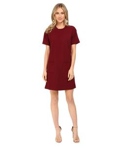 Culture Phit | Bellana Short Sleeve Waffle Dress With Pockets Wine