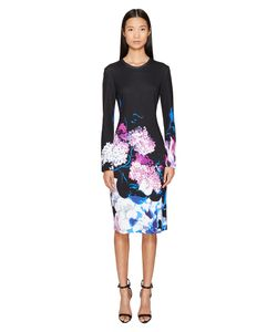Prabal Gurung | Printed Viscose Long Sleeve Knit Dress Multi