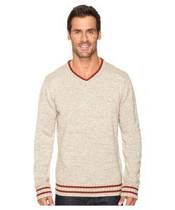 SmartWool | Larimer V-Neck Top Oatmeal Heather Long Sleeve Pullover