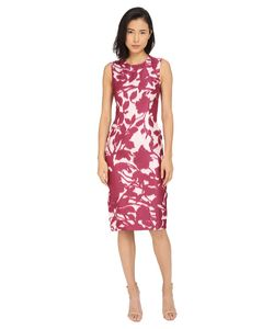 Prabal Gurung | Shadow Print Sleeveless Dress Berry Shadow