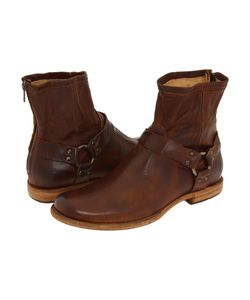 Frye | Phillip Harness Cognac Vintage Leather Pull-On Boots