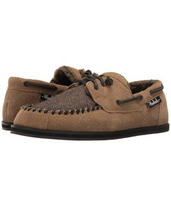 Woolrich | Austin Potter Tweed Wool/Lead Suede Slippers